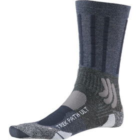 X-Socks Trek Path Ultra LT Calcetines Hombre, midnight blue/dolomite grey